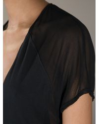 Helmut Lang Black Sheer Panel Dress