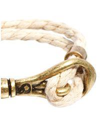 Simon Carter - Natural Icon Brand Rope Bracelet for Men - Lyst