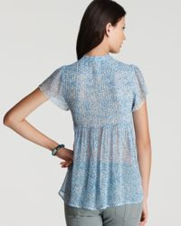 Joie - Blue Blouse Macy Abstract Dot Print - Lyst