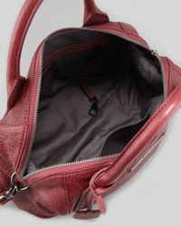 McQ Purple Redchurch Shoulder Bag Burgundy