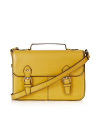 TOPSHOP Yellow Edge Paint Satchel