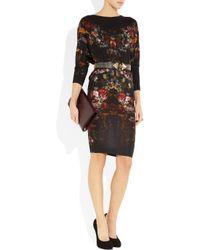 Alexander McQueen - Black Round-neck Lace Mini Dress - Lyst