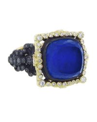 Armenta - Blue Lapis Halo Ring - Lyst