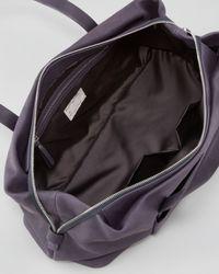 Brunello Cucinelli Blue Double handle Leather Satchel Bag Galaxy