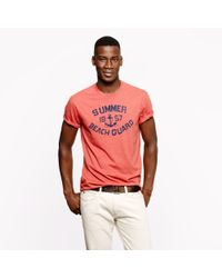 J.Crew - Red Summer Guard Graphic Tee for Men - Lyst