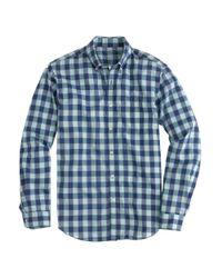 J.Crew | Secret Wash Shirt In Blue Gingham for Men | Lyst
