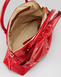 Valentino Lacca Dome Bow Bag Red
