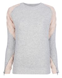 3.1 Phillip Lim Gray Cashmere Sweater