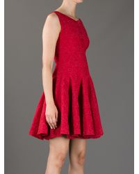 Alaïa Red Sleeveless Empire Line Dress