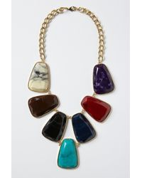 Anthropologie - Multicolor Stoneslab Bib Necklace - Lyst