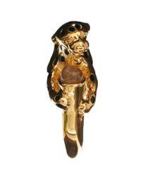 KG by Kurt Geiger | Metallic Bill Skinner Leopard Ring | Lyst