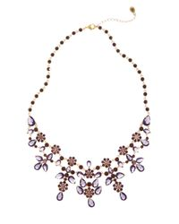 Brooks Brothers | Metallic Vintage Floral Bib Necklace | Lyst