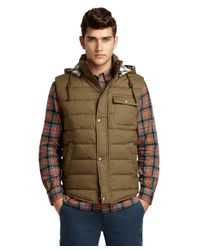 Brooks Brothers - Green Quilted Vest for Men - Lyst