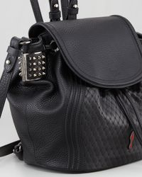 Christian Louboutin Dompteuse Spiked Backpack Bucket Bag Black
