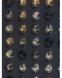 Christian Louboutin - Black Paros Studded Leather Wallet - Lyst