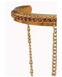Forever 21 | Metallic Double Band Chain Cuff | Lyst