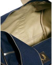 ASOS Blue Red Perry Classic Canvas Barrel Bag for men