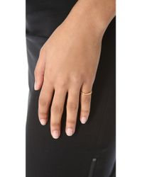 Gorjana - Pink Shimmer Bar Ring To Midi Connector - Clear/Gold - Lyst