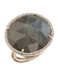 Irene Neuwirth Metallic Rose Cut Labradorite Ring