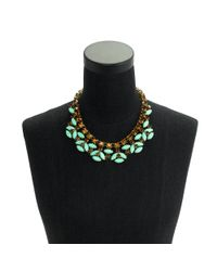 J.Crew | Green Mint Stone Necklace | Lyst