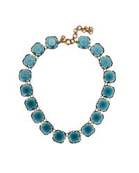 J.Crew | Blue Octagon Necklace | Lyst