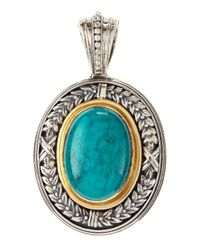 Konstantino | Metallic Turquoise Large Oval Pendant | Lyst