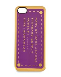 Marc By Marc Jacobs | Iphone 5 Case in Amazon Purple | Lyst