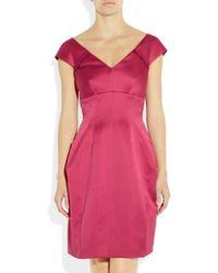 Marc Jacobs Purple Pleated Satin Dress