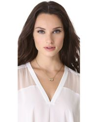 Michael Kors Metallic 3 Ring Double Chain Necklace