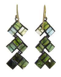 Nak Armstrong - Green Mosaic Drop Earring - Lyst