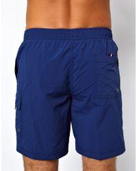 Tommy Hilfiger Blue Denim Logo Swim Shorts for men