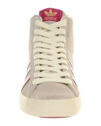 Adidas Gray Basket Profi High Top Sneakers