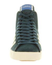Adidas Green Basket Profi Hi Dark Petrol for men