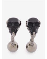 Alexander McQueen Metallic Skull Claw Cufflinks for men
