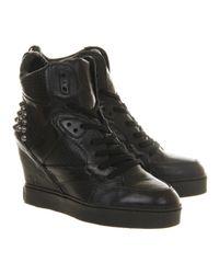 Ash Black Billie Bis Wedge Sneaker