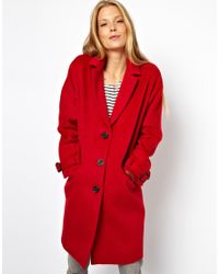 ASOS Limited Edition Red Mohair Coat