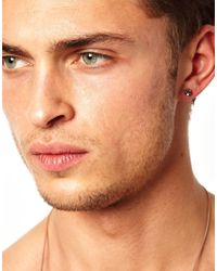 ASOS - Metallic Asos Crystal Stud Earring for Men - Lyst