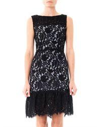 Balenciaga | Black Lace Contrast-Underlay Dress | Lyst