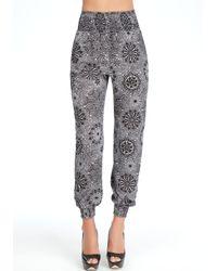 Bebe Gray Smock Top Casual Pants