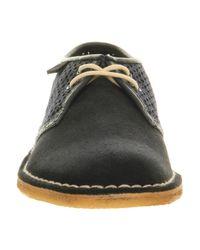 Clarks Blue Jink Lace Shoe Navy Textile for men