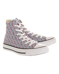 Converse Gray All Star Hi Floral Print Smu Exclusive for men
