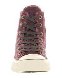 Converse Purple Ctas Side Zip Carmine Rose Leopard Denim