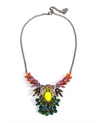 DANNIJO - Blue Mallory Embellished Necklace - Lyst