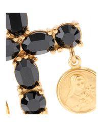 Dolce & Gabbana - Metallic Crystal Cross Earrings - Lyst