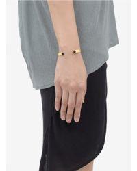 Ela Stone - Metallic Ana Stone Adjustable Cuff - Lyst