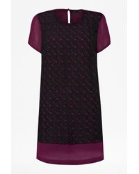 French Connection Purple Horse Lace Tunic Dress