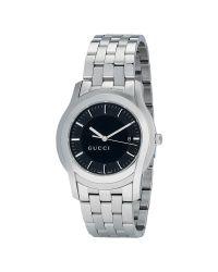 Gucci Metallic Ya055211 Men'S G-Class Black Dial Steel Bracelet Watch