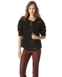 IRO Coffey Knitted Jacket, Women's, Size: 12, Black