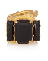 Marni | Metallic Goldplated Crystal Ring | Lyst