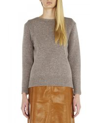 M.i.h Jeans - Gray The Dove Jacquard Sweater - Lyst